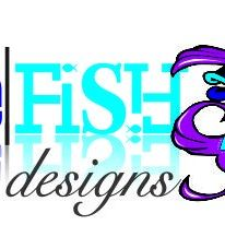 Blue fish disigns
