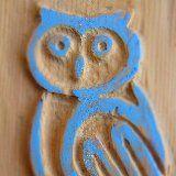 four blue owls