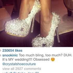 crystal shoe couture