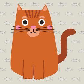 SIMONS CAT MEOW SHOPPER BAG REUSABLE TOTE RED KITTEN PET CARTOON COMIC PUSSY