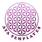 Aya Templates logo design logo brand identity designs wordpress themes business cards mockup psd bus