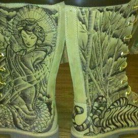 Timberlands tattoo boots Timberlands tattoos boots (popnson96) on ... 311ce11b210