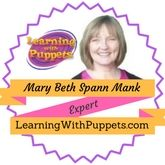 Learning with Puppets Expert Mary Beth Spann Mank   Fun Activities For Teaching Kids Pre-K, Kdg-Gr 3