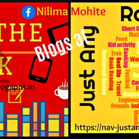 Nilima Mohite Blogger at : Just any Random Topic  &  Grab The Book !
