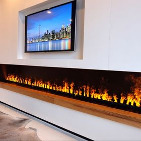 61 Water Vapor Fireplaces By Nero Fire Design Ideas In 2021 Realistic Electric Fireplace Fire Designs Innovation Design