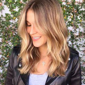 Balayage Blonde Medium Hair