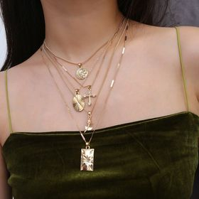 Bettelkette Statement Halskette Modeschmuck Silber Rosa Strass Collier OHRRINGE