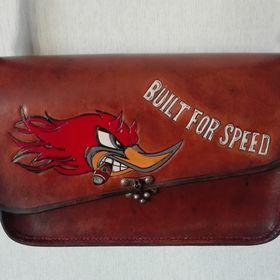 Véritable 4 mm Toolbag outil cuir Guidon Sac rôle Harley Chopper antique en cuir