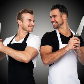 2 Guys with Knives
