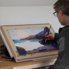 Einar Aasen - Landscapes and seascapes  in watercolour