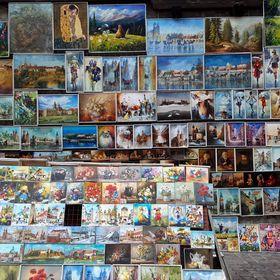 Galeria obrazów pod Bramą Floriańską w Krakowie