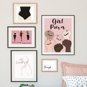 Inspirational Feminist Wall Art | PrintOnMeInc | Kelseykate