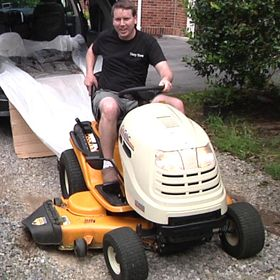 Tarp Tow rear attachment device for riding lawn mowers, Garden Tractors, ATV's and zero turn mowers