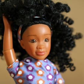 *NUDE DOLL* 2018  AFRICAN AMERICAN  BARBIE W// CURLY UPDO