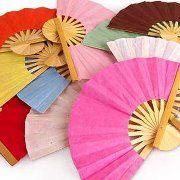 Nigeria Flag Fabric Folding Hand Fan with Bamboo Handle Custom Made