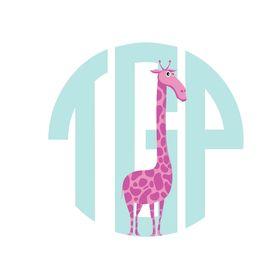 The Pink Giraffe Monogrammed Boutique