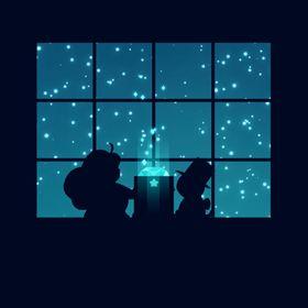 B San-X Rilakkuma Ring Sticky Note Memo Brown Bear Starry Night