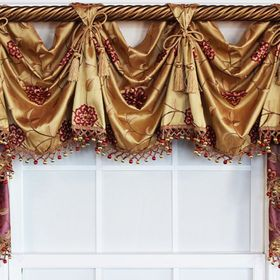 "Navy Map Nautical Valance Window Curtain Topper cotton fabric 43/""W x 15/""L"