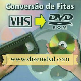 Fitas VHS para DVD ou MP4