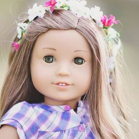 American Girl 18/' Doll Kirsten Birthday Flower Wreath ONLY Retired PC