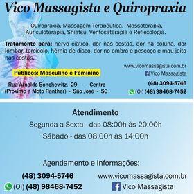 Vico Massagista e Quiropraxia em São José SC - (48) 98468-7452