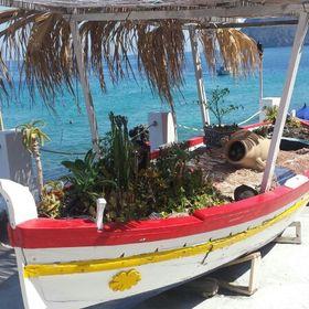 Piccolo Messicano TIN Folk Art reclinabili sirena Decorazione fatto a mano e Dipinti