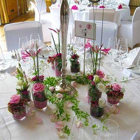 2 x Teelichtglas Kerzenständer Herbst Deko Glas Tischdeko Oktoberfest blau rosa