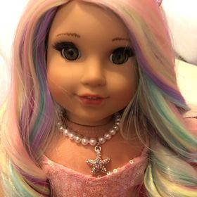 Masterpiece Dolls Jasmine Strawberry Blonde Wig Fits Up To a 19-inch Head