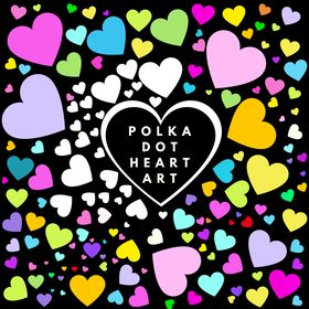 Polka Dot Heart Art