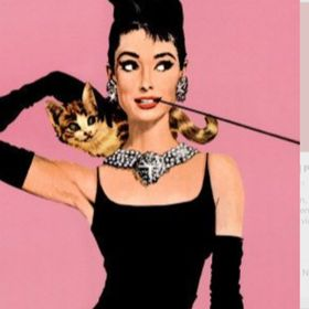 Audrey Hepburn Noir /& Blanc Mini Jupe-Taille 8 10 12 14 16-pin up girl