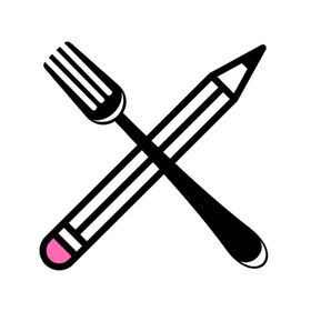 a fork and a pencil
