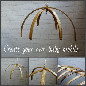 Wood baby mobile | DIY mobile Felt baby mobile | crochet toy