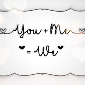 You + Me = We     - Handmade Gifts - Personalised Items - Bespoke Keepsakes