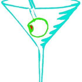 Martini Set Ralph Burch Restaurant Art Print 8x10