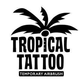 Tropical Airbrush Tattoo