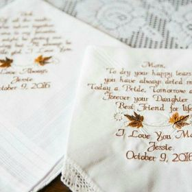 Canyon Embroidery Embroidered Wedding Handkerchiefs