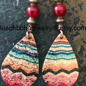 Ciyoon Handmade Ear Stud Earrings Polymer Clay for Women and Girls Set for Sansitive Ears Simple Chic Jewelry