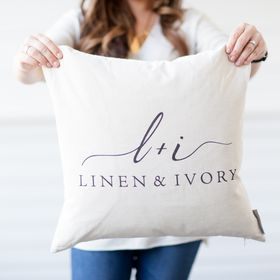 Linen And Ivory // Handmade Modern Farmhouse + Boho Pillows