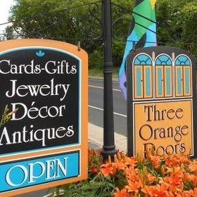 Three Orange Doors