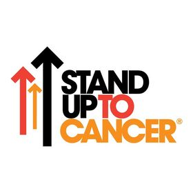 Cancer Research UK Charity Pin Badge STAND UP TO CANCER BLACK SHORT LOGO