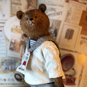 "Artist The Bears Of Haworth Cottage 15"" Jointed Teddy In Waistcoat Great Varieties Bears"