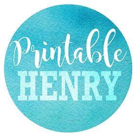 PrintableHenry = Handpainted clipart