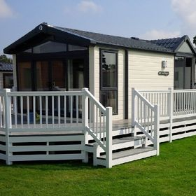 Fensys UPVC plastic decking for gardens, caravans & commercial