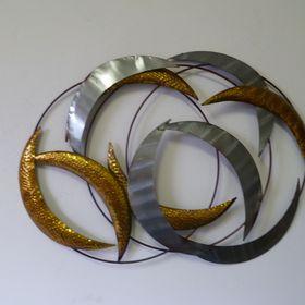 wanddekoration metall