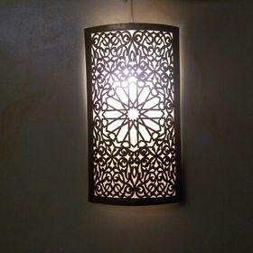 applique murale Marocaine fer forgé bl lampe lustre lanterne decoration spot