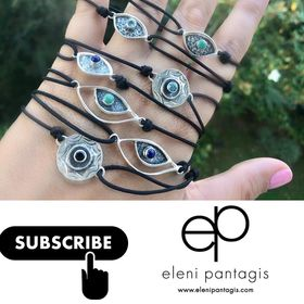 Handmade with Love - Eleni Pantagis Silver Jewelry, Modern Silver Rings silver cross necklace
