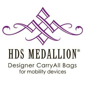 HDS MEDALLION® Designer CarryAll Bags for Mobility Devices