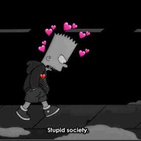 Bart Simpson Sad