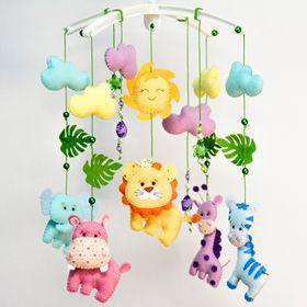 FetrLand nursery baby mobiles | Crochet baby blanket