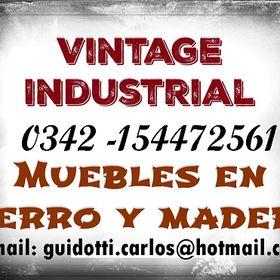 Vintage Industrial: Muebles en hierro y madera